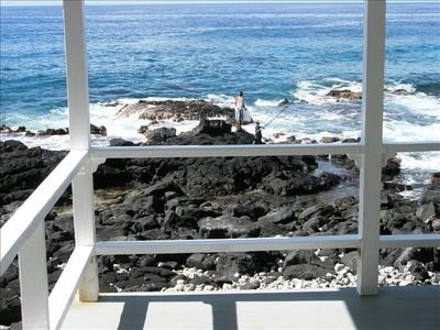 Looking down from Lanai